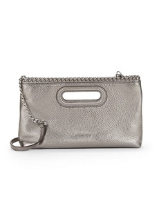 MICHAEL MICHAEL KORS Rosalie Large Metallic Leather Clutch