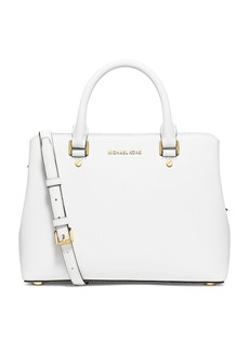 MICHAEL MICHAEL KORS Savannah Medium Leather Satchel