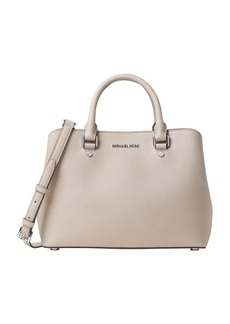 MICHAEL MICHAEL KORS Savannah Medium Saffiano Leather Satchel