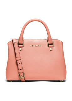 MICHAEL MICHAEL KORS Savannah Saffiano Leather Satchel