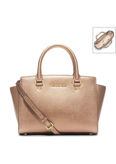 MICHAEL Michael Kors® Selma Medium Metallic Satchel