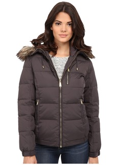 MICHAEL Michael Kors Short Hooded w/ Faux Fur