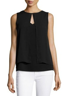 MICHAEL Michael Kors Sleeveless Flyaway Blouse