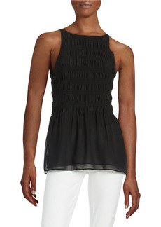 MICHAEL MICHAEL KORS Sleeveless Smocked Top
