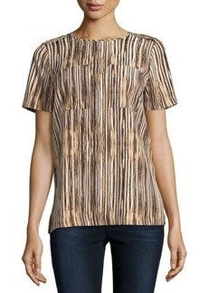 MICHAEL Michael Kors Striped Pocket Tee