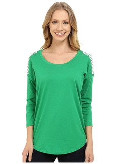 MICHAEL Michael Kors Stud Shoulder 3/4 Sleeve Top