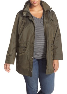 MICHAEL Michael Kors Water Repellent Hooded Anorak (Plus Size)