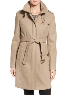 MICHAEL Michael Kors Wool Blend Single Breasted Trench Coat