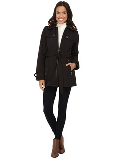 MICHAEL Michael Kors Zip Front Belted Soft Shell