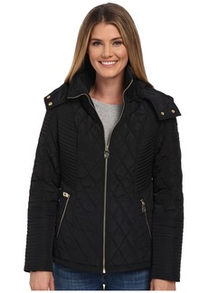 MICHAEL Michael Kors Zip Front Hooded Quilt