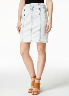 Nanette by Nanette Lepore Ahoy Sailor Cloud Wash Denim Skirt