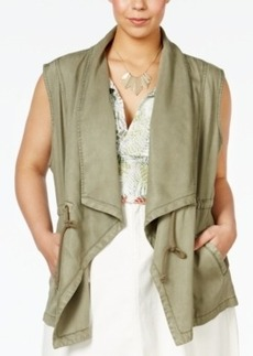 Nanette by Nanette Lepore Plus Size Drapey Utility Vest, Only at Macy's