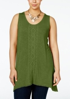 Nanette by Nanette Lepore Plus Size Embroidered Tank Top, Only at Macy's
