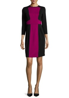 Nanette Lepore 3/4-Sleeve Colorblock Sheath Dress  3/4-Sleeve Colorblock Sheath Dress