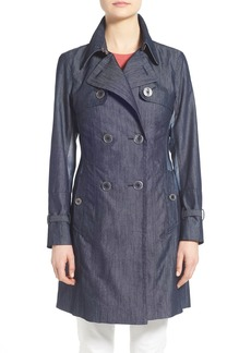 Nanette Lepore A-Line Twill Trench Coat