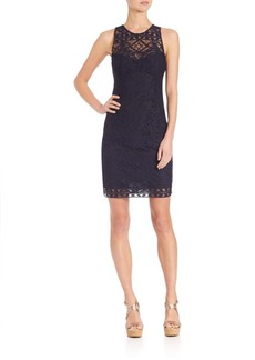 Nanette Lepore Antique Lace Sheath Dress