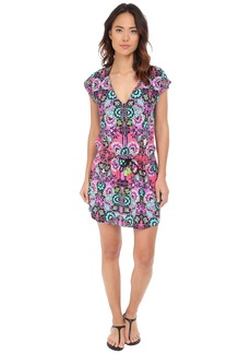 Nanette Lepore Bali Batik Short Sleeve Tunic Cover-Up