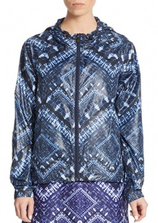 Nanette Lepore Packable Batik-Print Hooded Jacket