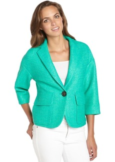 Nanette Lepore clove green textured cotton blen...