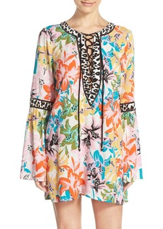 Nanette Lepore 'Copa' Lace-Up Tunic Cover-Up