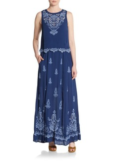 Nanette Lepore Embroidered Maxi Dress