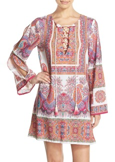 Nanette Lepore 'Gypsy Queen' Lace-Up Cover-Up Tunic