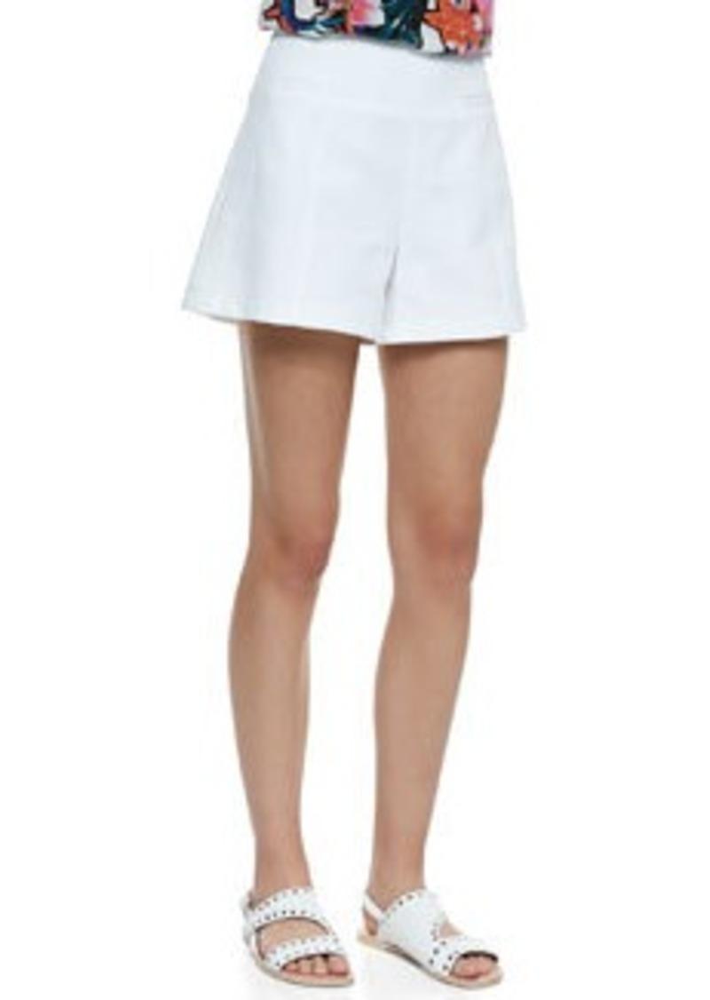 Nanette Lepore Hideaway Wide-Leg Pique Shorts