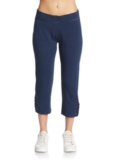 Nanette Lepore Lace-Up Capri Sweatpants