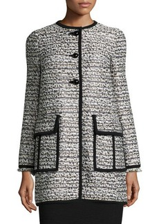 Nanette Lepore Long-Sleeve Button-Front Topper Coat