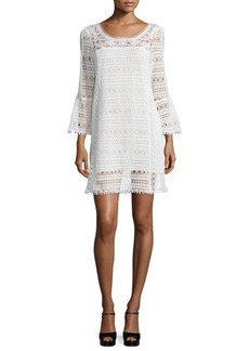 Nanette Lepore Long-Sleeve Lace Dress