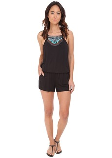 Nanette Lepore Mantra Embroidery Romper Cover-Up