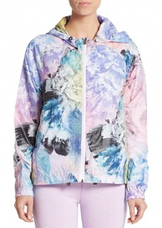 Nanette Lepore Packable Monet-Print Windbreaker Jacket