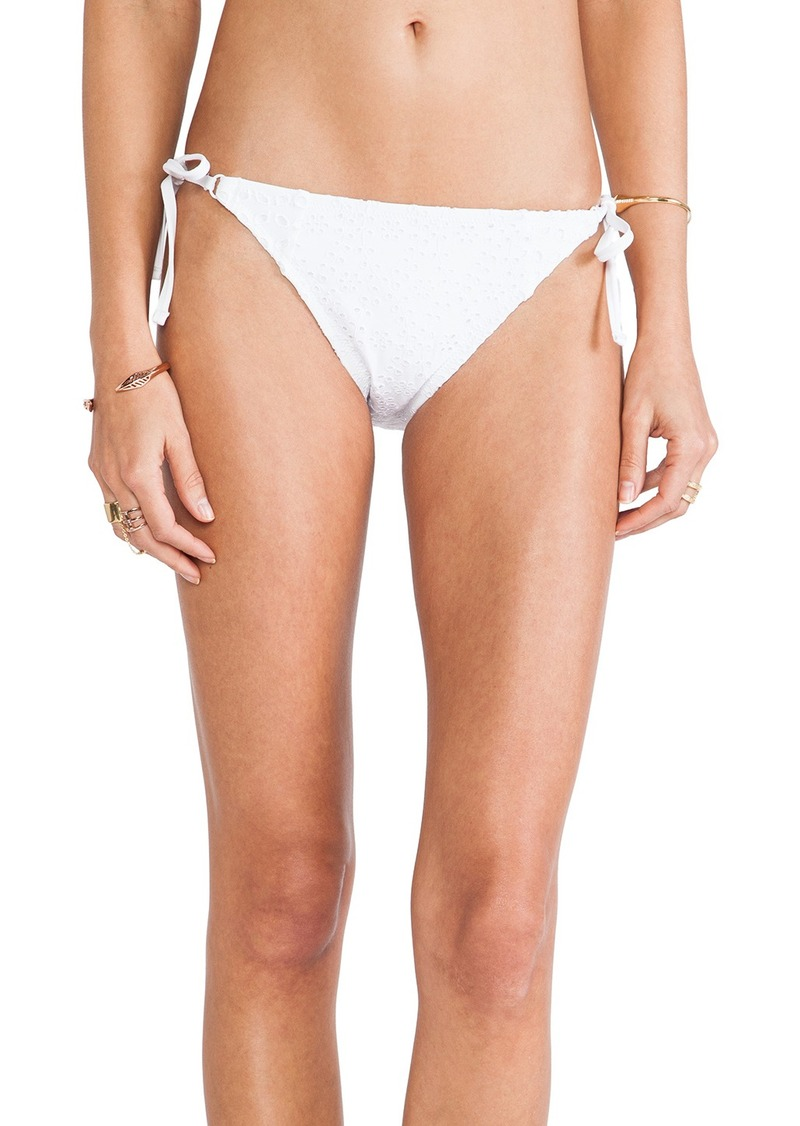 Nanette Lepore Ooh La La Eyelet Vamp String Bikini Bottoms
