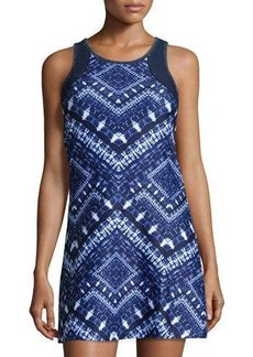 Nanette Lepore Play Batik Mesh-Inset Performance Dress