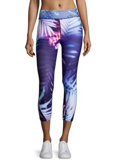 Nanette Lepore Play Graphic Palm-Print Performance Capri Leggings