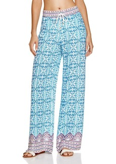 Nanette Lepore Seaside Tile Print Wide Leg Pants