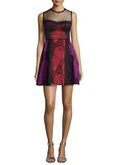 Nanette Lepore Sleeveless Illusion Fit & Flare Dress