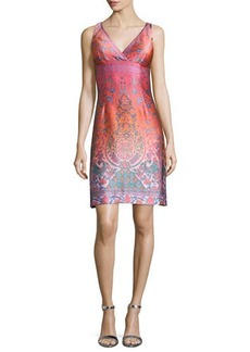 Nanette Lepore Sleeveless Jacquard Cocktail Shift Dress