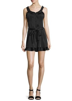 Nanette Lepore Sleeveless Ruffled Romper w/Belt  Sleeveless Ruffled Romper w/Belt