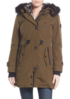 Nanette Lepore Snorkel Parka with Removable Faux Fur Trim
