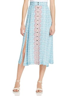 Nanette Lepore Street Fair Silk Skirt