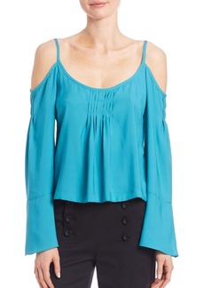 Nanette Lepore Sultry Cold-Shoulder Top