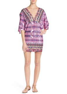 Nanette Lepore 'Sunset' Lace Neck Cover-Up Tunic