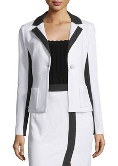 Nanette Lepore Two-Tone One-Button Jacket  Two-Tone One-Button Jacket