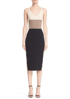 Narciso Rodriguez Colorblock Wool & Silk Knit Dress