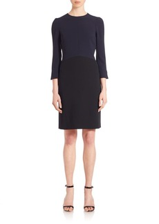 Narciso Rodriguez Crepe Colorblock Dress