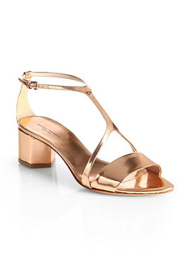 Narciso Rodriguez Metallic Leather City Sandals