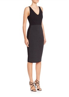 Narciso Rodriguez Printed V-Neck Sheath Dress