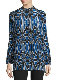 Natori Abstract-Print Silk Tunic