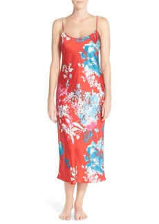 Natori 'Chianti' Floral Satin Nightgown